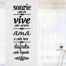 Drop Shipping spanish quotes sonrie Home Decor Modern Acrylic Decoration For Kids Rooms Removable Wall Decals
