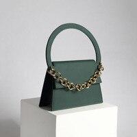 Показ цепочки украшения Половина кольцо ручки кожа матовая гладкая сумки женские известные бренды натуральная кожа сумка