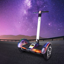 Iscooter Hoverboard 10 Inch Electric Scooter Self Balancing Scooter Bluetooth Key Smart Two Wheel Skateboard With Handle