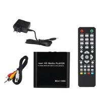 Full Multi TV Media Player HDMI 1080P HD USB SD MMC RMVB MP3 AVI MPEG Divx MKV With US Plug Car adapter