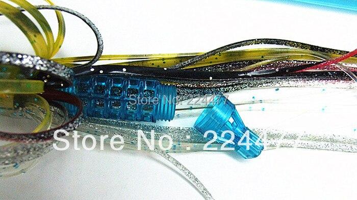 18 pouces/45 cm grand leurre de pêche en mer gros appâts de pieuvre gros matériel de pêche en mer grand leurre de pêche à la traîne tête en résine avec appât blazer