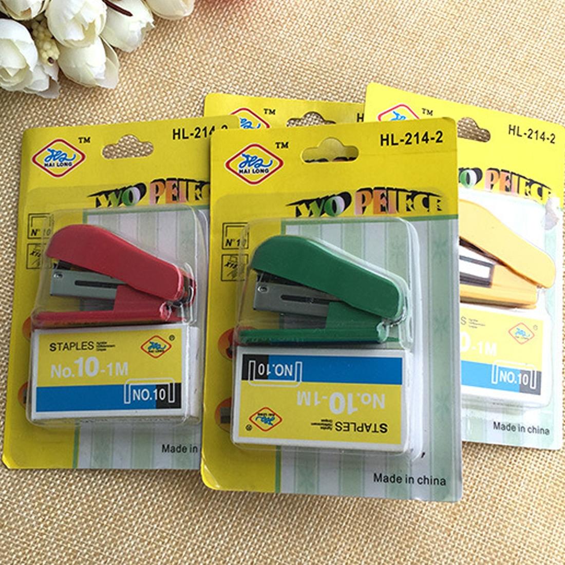 FangNymph Super Kawaii Mini Small Stapler Useful Mini Stapler Staples Set Office Binding Stationery Random Color