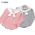 Striped T-Shirts For Girls Navy Casual Striped Bottoming Shirt Children's Long-sleeved T-shirt Girl Cotton T Shirt Kids Clothes