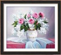 Զամբյուղ ծաղիկների ադամանդի ներկերի - Արվեստ, արհեստ և կարի - Լուսանկար 4