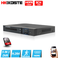 4Ch 8Ch 5 IN 1 Hybrid DVR NVR Support AHD CVI TVI IP Camera Onvif 1080P