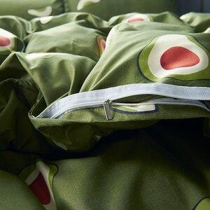 Image 2 - Karikatür meyve nevresim takımı Yumuşak Yorgan Kapak Yastık Kılıfı Sıcak Yumuşak yatak setleri e n e n e n e n e n e n e n e n e n e tam kraliçe kral yorgan kapak setleri yeşil yatak örtüsü