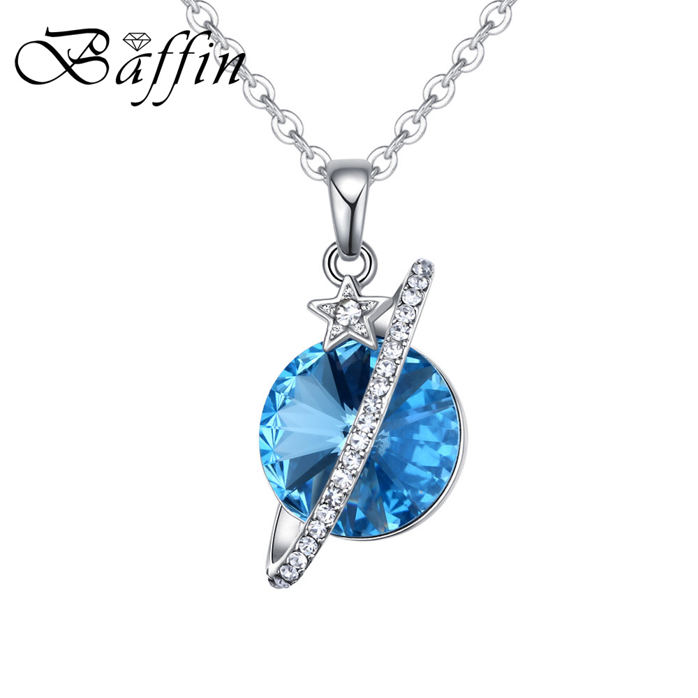 ecde150cf38 BAFFIN New Design Star Planet Pendant Necklace Crystals From Swarovski  Elements For Women Girls Cute Jewelry Wholesale