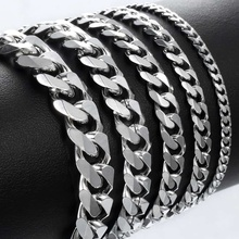 Bracelet for Men Women Curb Cuban Link Chain Stainless Steel