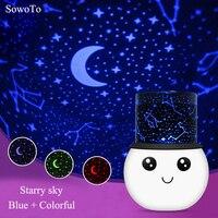 아이 프로젝터 별이 빛나는 달 밤 빛 프로젝터 별이 빛나는 스타 어린이 아이 아기 수면 LED Rechargeabe USB 프로젝션 램프