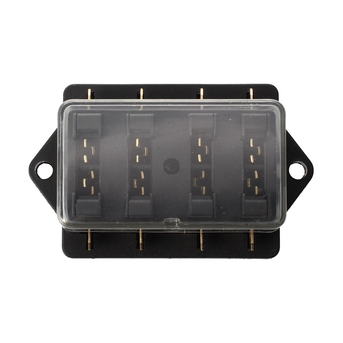 4 compartment fuse box fuse holder fur car auto blade type. Black Bedroom Furniture Sets. Home Design Ideas