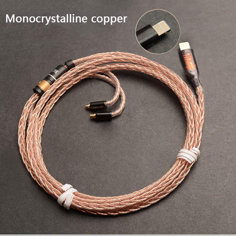 Mis à jour MMCX Remplaçable Câble pour Apple Téléphone Ci-dessous 10.2 Version pour Shure SE215 SE535 SE846 UE900 Écouteurs Audio Câbles Fil - 2