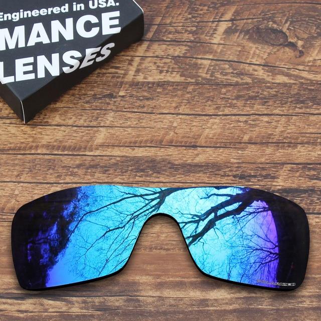 oakley lente azul espelhada