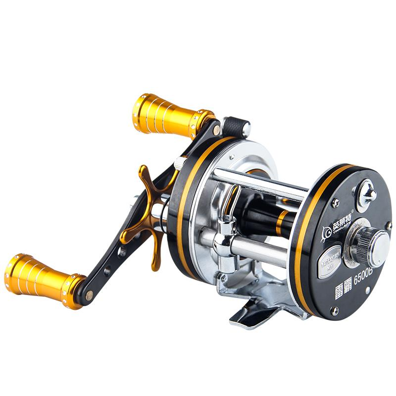 LB6500 9BB  5.2:1  585g  Full Metal Trolling Fishing Reel Casting Drum Reel Saltwater Boat Reels  Right Handle 1 65m 1 8m high carbon jigging rod 150 250g boat trolling fishing rod big game rods full metal reel seat sic guides eva handle