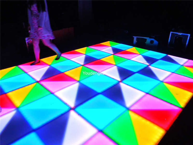 Free shipping 432pcs*5mm night club dance floor rgb dmx waterproof wedding led dancing floor stage lights