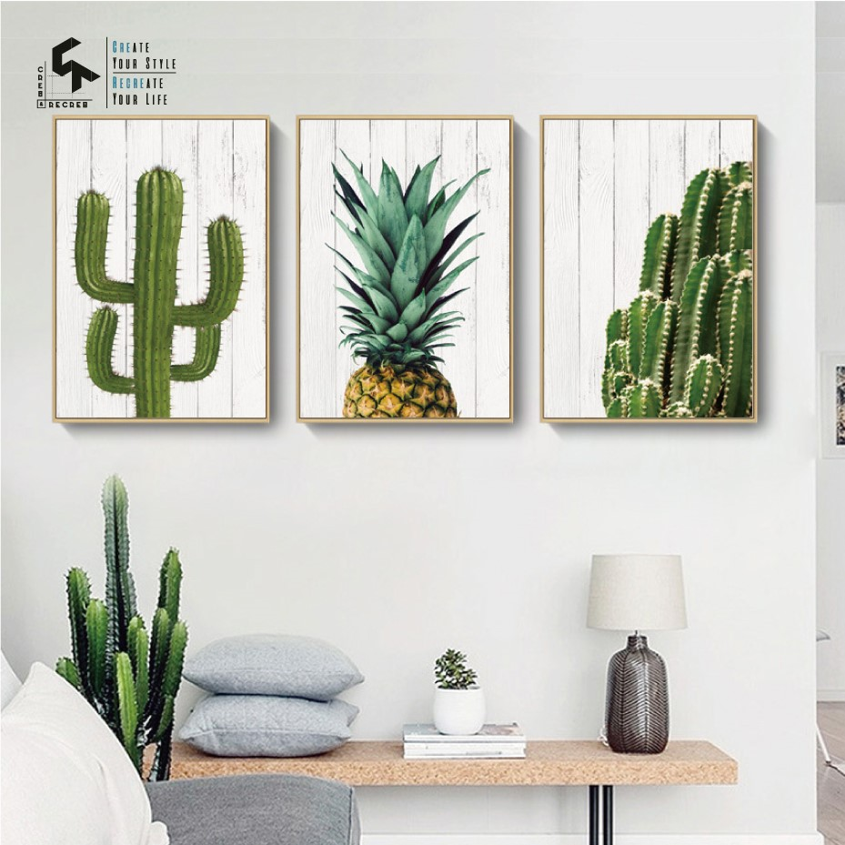 CREATE&RECREATE Nordic Poster Pineapple Posters And Prints Wall Art Canvas Oil Painting Plant Decorative Pictures CR1810110030