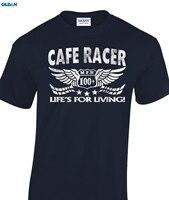 Возьмите кафе гонщиков футболка в исходном возрасте Посмотрите Байкер 60-х Rock & roll Ace Для мужчин футболка 100% хлопок прин футболки новый Для му...