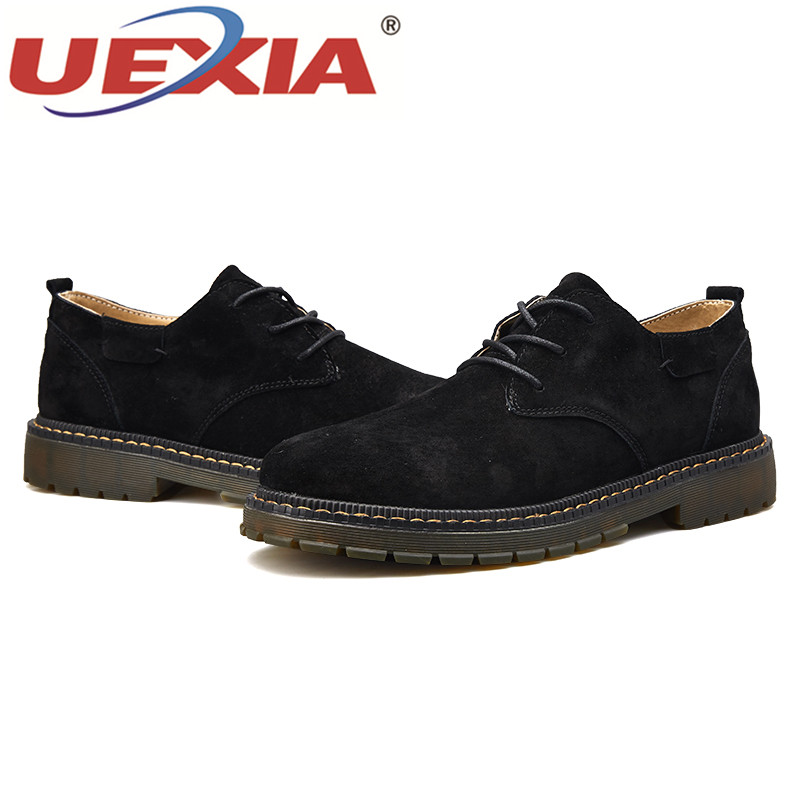 badab90a39a611 Respirant Conduite De Appartements Luxe Casual Cuir Chaussures Bateau Main  D'affaires Uexia Mocassins Khaki En brown black Hommes R7wcqx