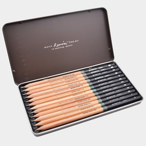 Image 3 - Marco Renoir Premium Professional Art Sketching Pencil Set Iron Box Non toxic Pastel Drawing Pencils 3001 12pcs /H/F/HB/B/2B/3B