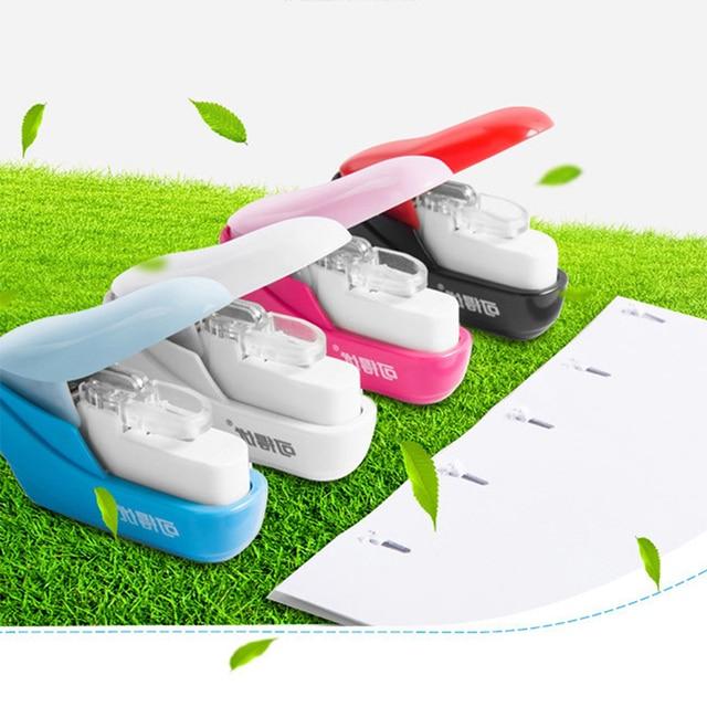 No Nails No Staples Stapling Machine Mini Cute Book Stapleless Stapler Paper Stapling Stapler Without Staple Stapler 5