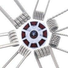 48 sztuk/zestaw wstępnie zbudowane cewki RTA RDA płaskie skręcone zacisk bezpiecznika Quad Hive Alien