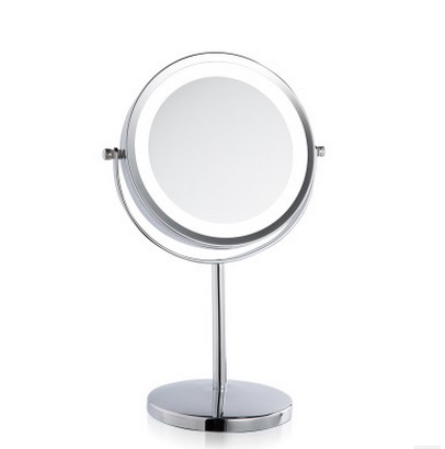 SpringQuan 7 Inch LED Double Sides Cosmetic Mirror 1/3X Zoom table Mirror Nickel Chargeable Mirror Adjust Light