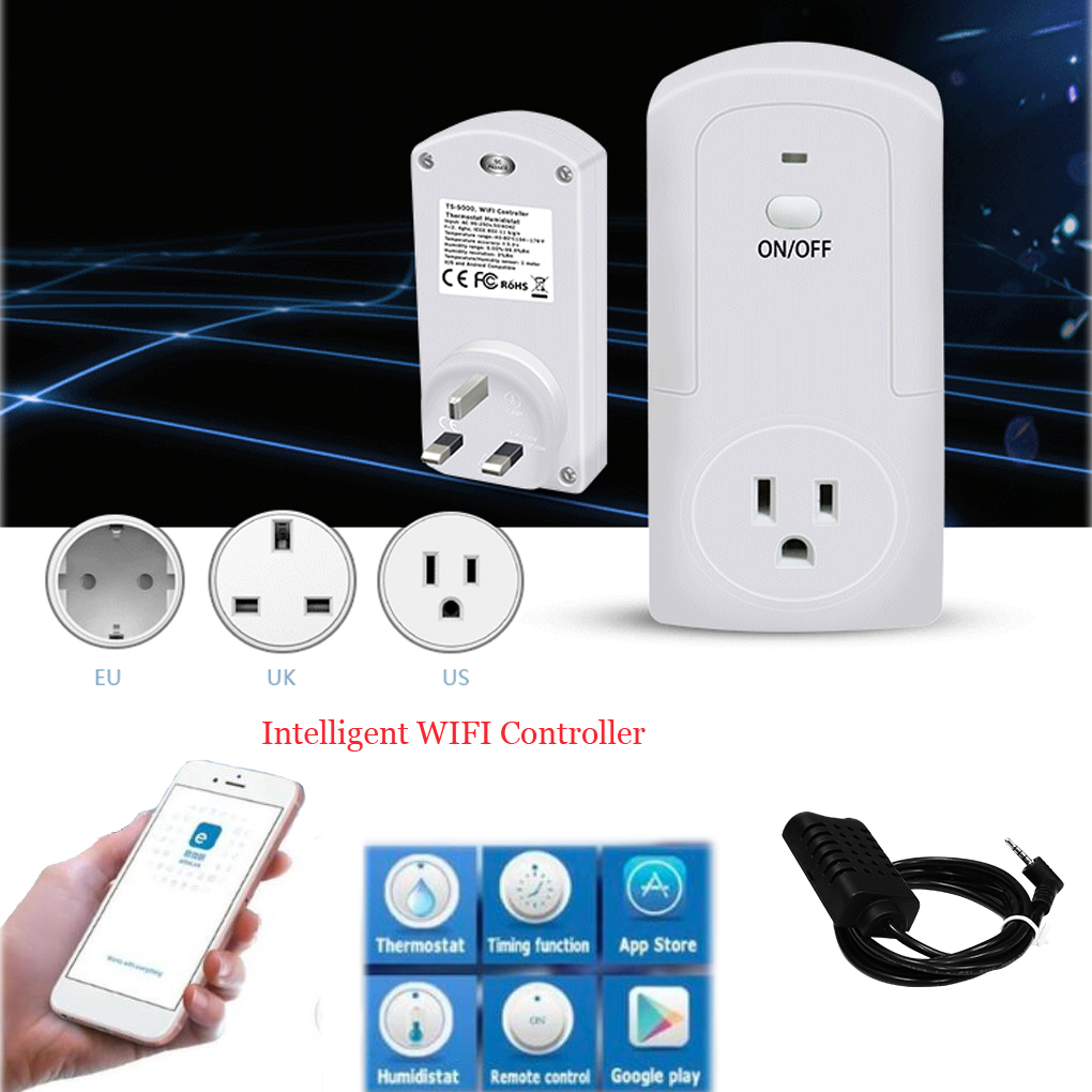 TS-5000 WIFI Wireless Temperature Humidity Thermostat Module APP Smart Remote Control Smart Timing Switch Socket