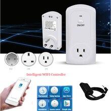Беспроводной термостат с терморегулятором, Wi Fi, с приложением, умным дистанционным управлением, умная розетка с таймером