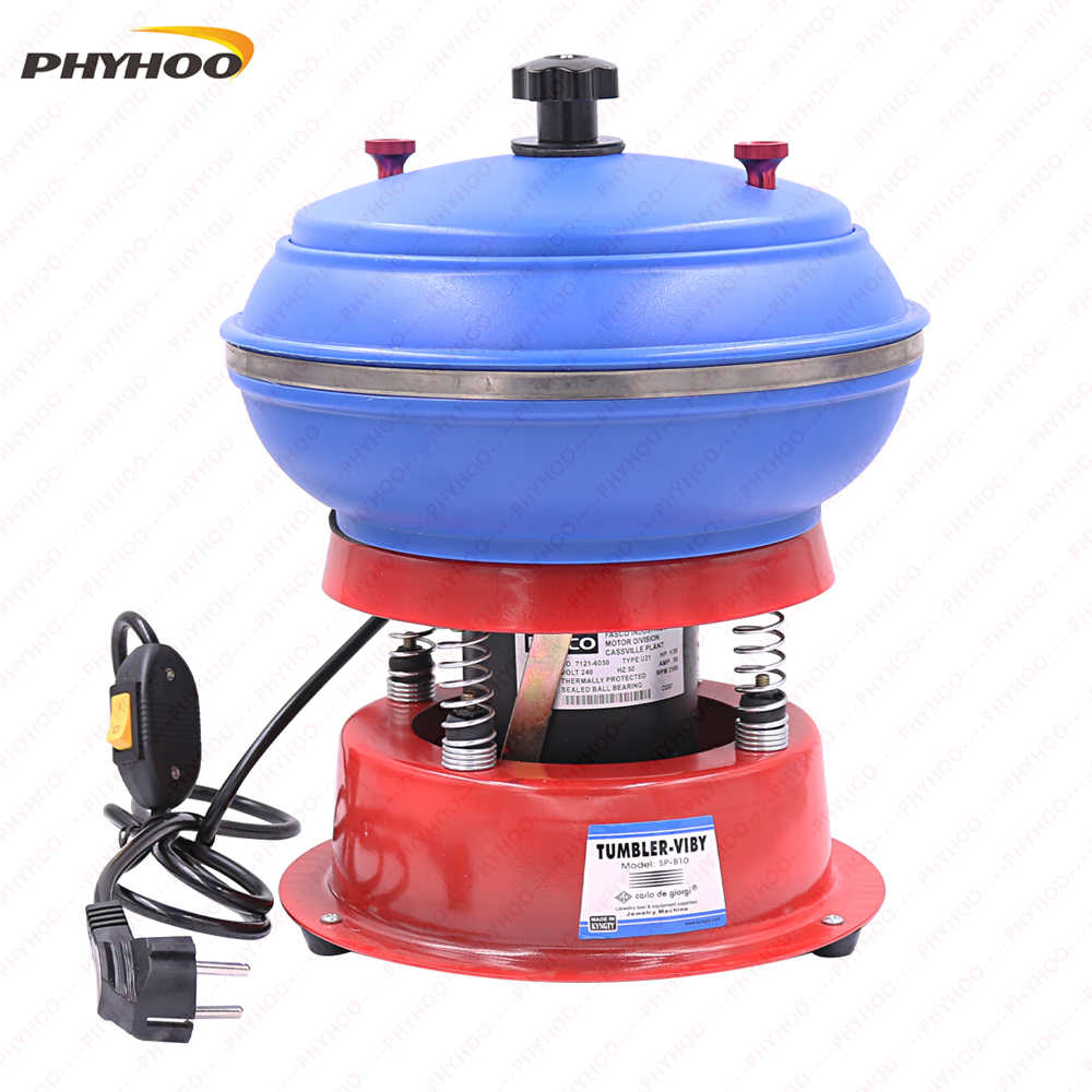 Miniature vibration polishing grinding polisher machine flacker Remove metal burrs Cleaning metal surface stains 220V/110V