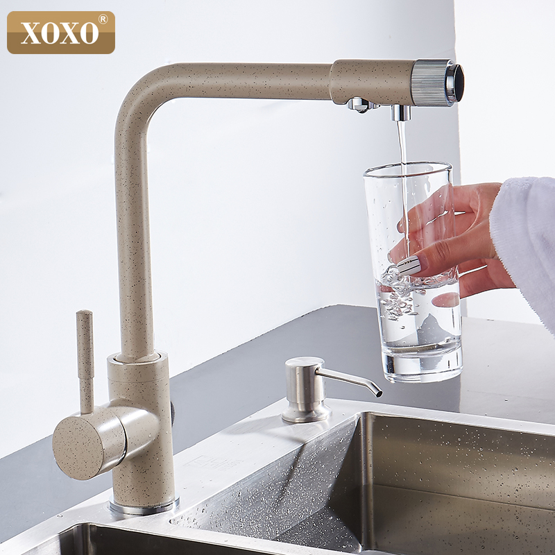 XOXO Filter Kitchen Faucet Cold And Hot Installation Mixer Tap Deck Rotate 360 Degrees And The Water Purification Functi 83029BE