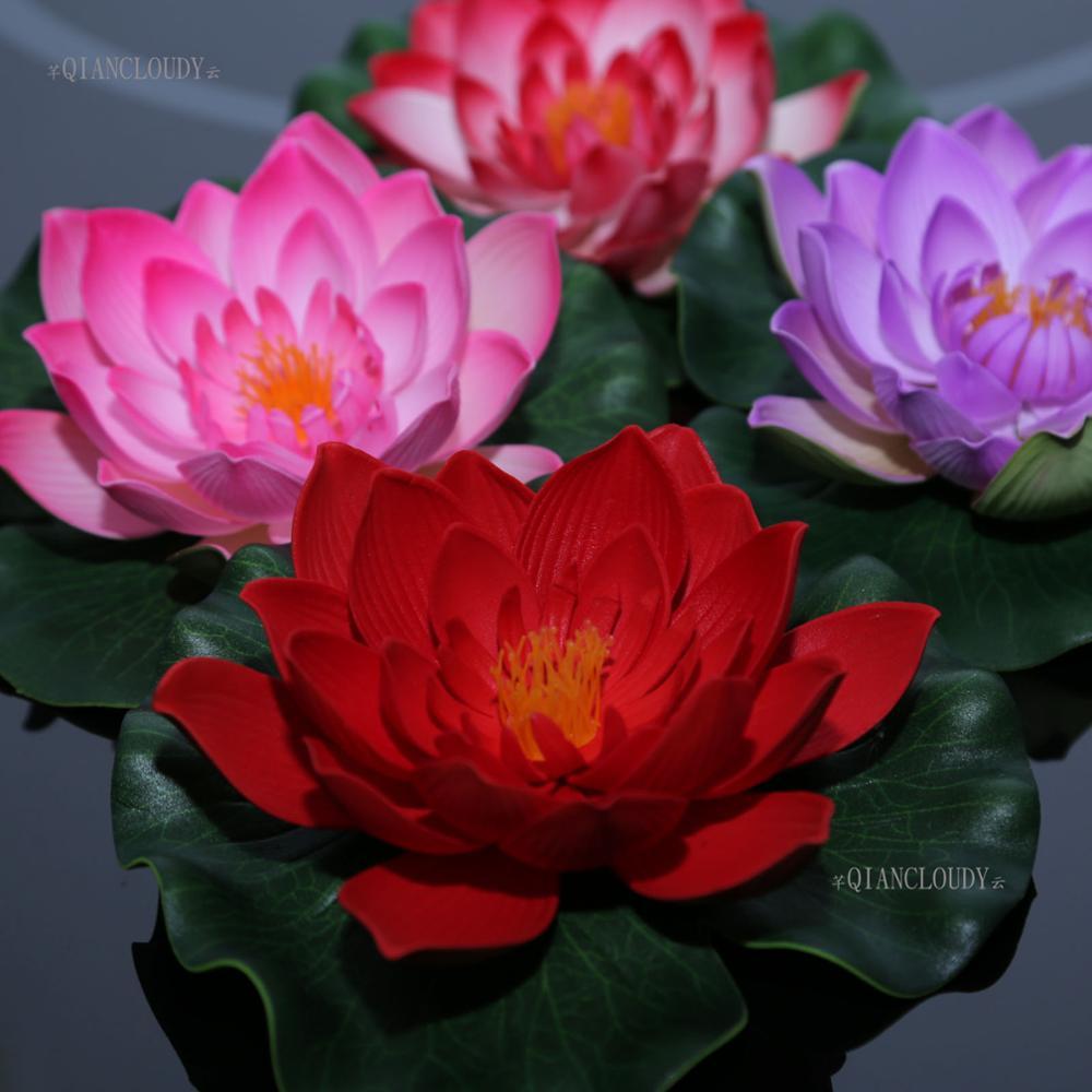 Aliexpress Buy 10 Pieces Artificial Foam Fake Lotus Flowers