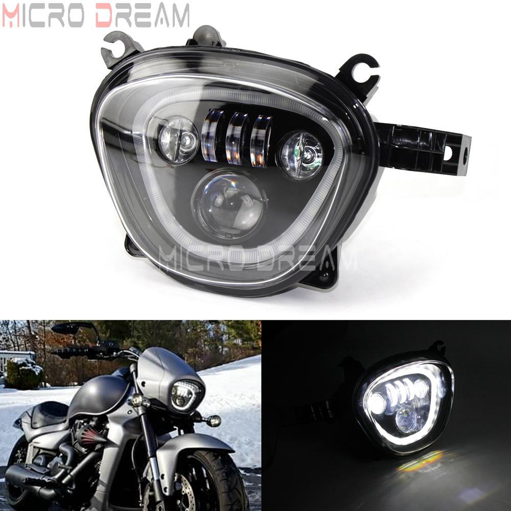 Motorcycle LED Headlight Assembly For Suzuki Boulevard C90 M90 M109R VZ1500 VZR 1800 2006-2019 Black DRL Head Light Running Lamp