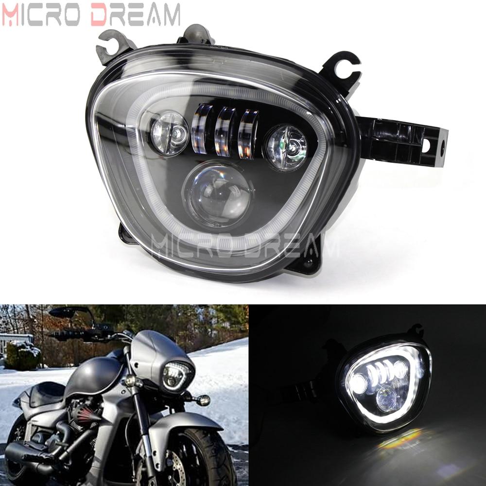 Motorcycle LED Headlight Assembly For Suzuki Boulevard C90 M90 M109R VZ1500 VZR 1800 2006-2019 Black DRL Head Light Running Lamp