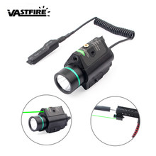 Pistol Gun Light 200lm Weapon Flashlight Tactical sight Red/Green Laser Picatinny Rifle Hunting Optics Combo Compact Rail Mount(China)