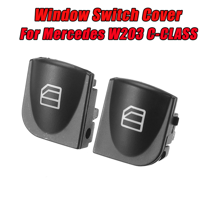 2X Window Switch Cover For Mercedes Benz W203 C-CLASS C320 C230 C240 C280 Power Window Switch Console Caps
