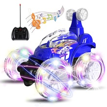 RC Car Uttora 360 Tumbling Electric Controlled Remote Control Stunt Dancing Flashing Light & Music Kids Gift Toy