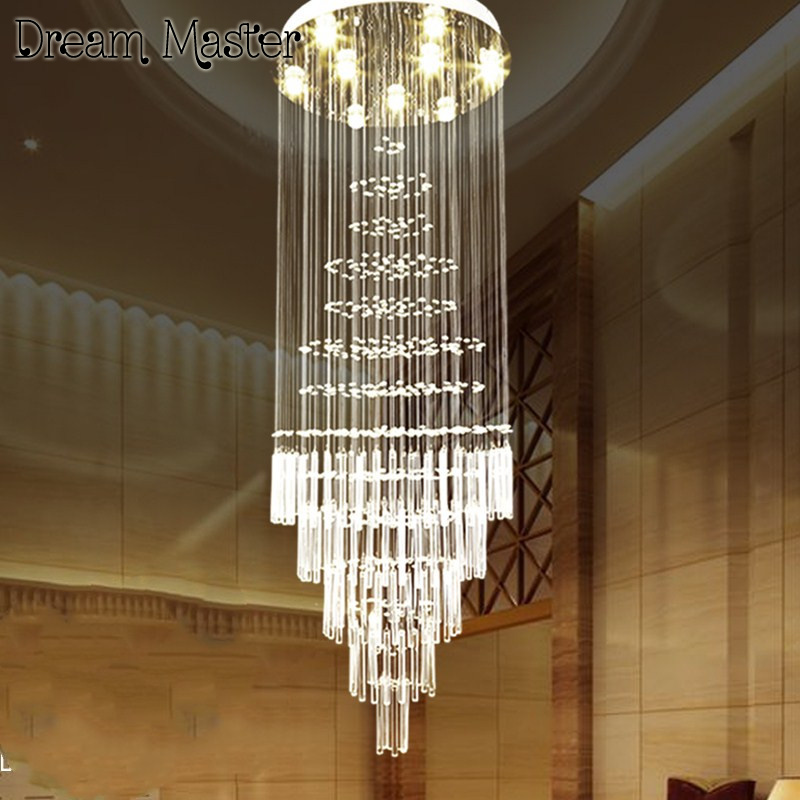 K9 led Crystal Chandelier Light Fixture Modern Lamp for Living Room Bedroom Hotel Hallway Indoor Decoration Stair Ceiling Lamp anqiue led ceiling lamp beautiful chandelier jingdezhen porcelain light for dining bedroom hotel free shipping