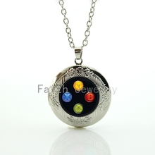 2017 Fashion Popular Colorful Button For Xbox Controller Image Pendant Charming Gamepad Locket Necklace Game Lovers Gift Hh248