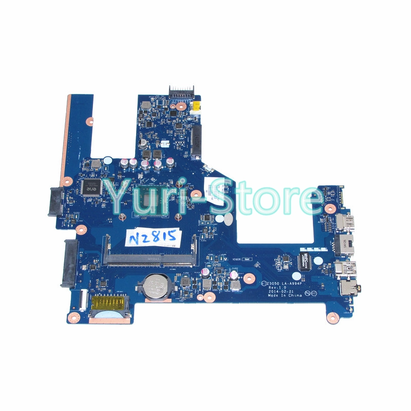 NOKOTION ZSO50 LA-A994P laptop Motherboard for HP Compaq 15 15-R 15T-R 15-S 759879-501 759879-01 SR1SJ N2815 CPU onboard ddr3 for hp 759878 001 759878 501 mainboard 15 15 r la a994p motherboard 759878 001 laptop motherboard 100% tested 60 days warranty