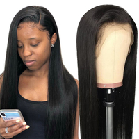 Lace Front Human Hair Wig Pre Plucked With Baby Hair Ably Malaysian Straight Human Hair Lace Wig For Women Remy Glueless Wigs