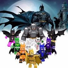 Marvel's Super Heroes Easter Bunny Batman with Purple Cape Building Blocks Compatible LegoINGly bricks Figures Best Toy Children(China)