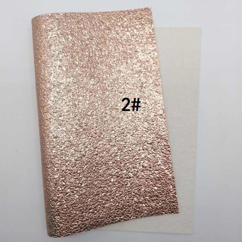 1 PCS A4 KÍCH THƯỚC 21X29 cm Alisa Glitter Vinyl Cho Cung, ROSE GOLD Long Lanh Da với Các Ngôi Sao Da Vải cho Bow DIY J43B