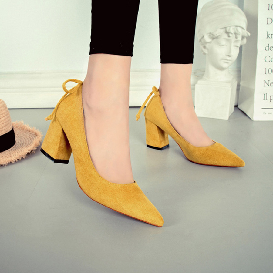 Pumps Great Autumn And Winter New Women's Shoes Bow Suffix Fashion Bright Shallow Mouth High Heel Shoes Show Thin Single Shoes