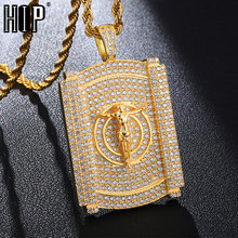 Hip Hop Full Iced Out Bling Jesus Rhinestone Rope Chain Gold Color Pendants & Necklaces For Men Jewelry Dropshipping