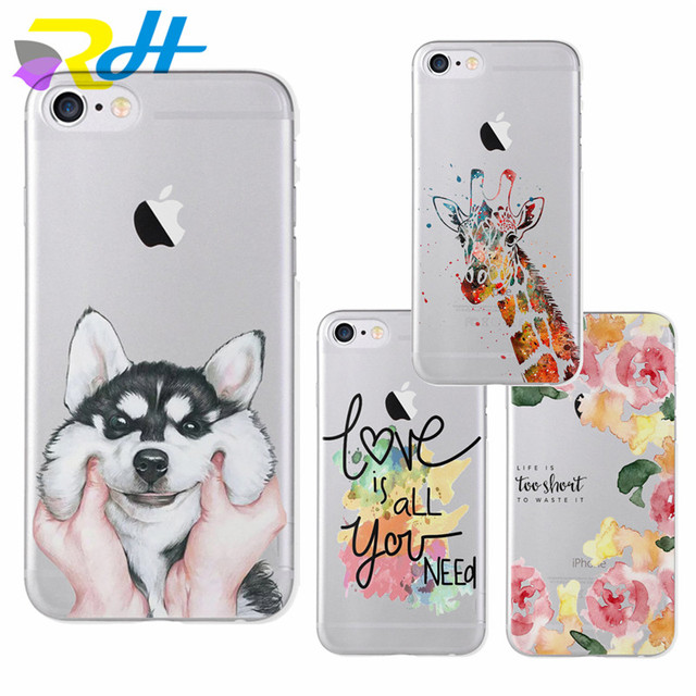 Cute stickers design husky case series for iphone 6 6s plus 5 5s se 7 7
