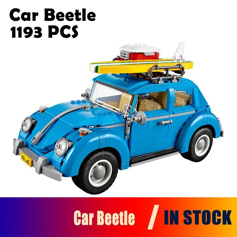 Modèles de blocs de construction compatibles Technic 10252 21003 003 1193 pièces série de créateurs ville voiture Beetle briques jouets enfants