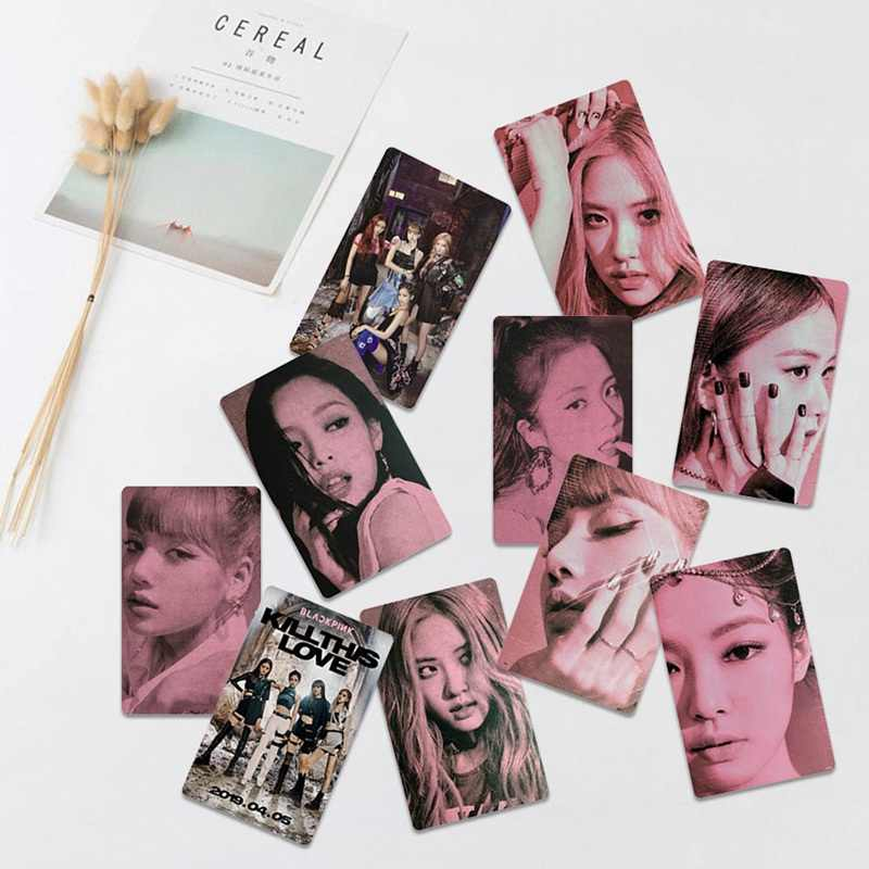 1 PC Kpop Blackpink Kill This Love Photo Stikcy Card Jennie