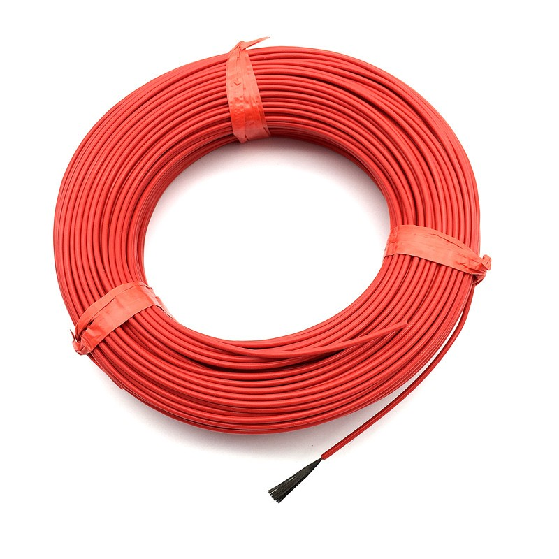 20 M 12 K 33 Ohm Infrared Heating Floor Heating Cable System 2.0mm PTFE Carbon Fiber Wire Electric Floor Hotline Thickening FF46