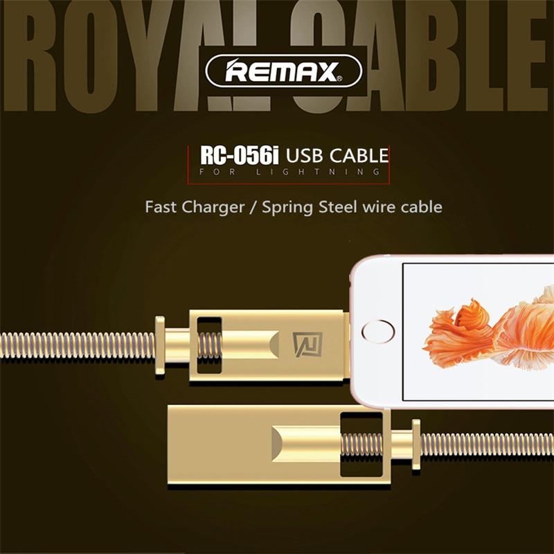 Remax frühling stahl draht von Zink-legierung USB Kabel Handy 2.1A Schnelle Lade Daten sync Kabel Für iphone 6 6 S 7 7 s 8 Plus X XR