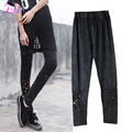 1X Sexy Casual Fashion Hole Leggings Autumn Style Pants Soft Skin Material Women Leggins