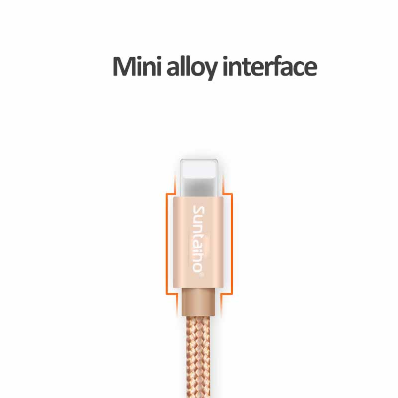 Suntaiho Nylon Micro USB Cable Fast Charging Mobile Phone Cable 0.5m/1.2m/2m/3m USB Data Cables for iPhone 7 6 5/Samsung/Android
